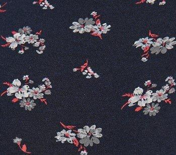 Μπλε σκούρο με άσπρα λουλούδια