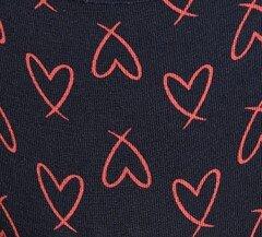 Μπλε σκούρο με κόκκινες καρδιές