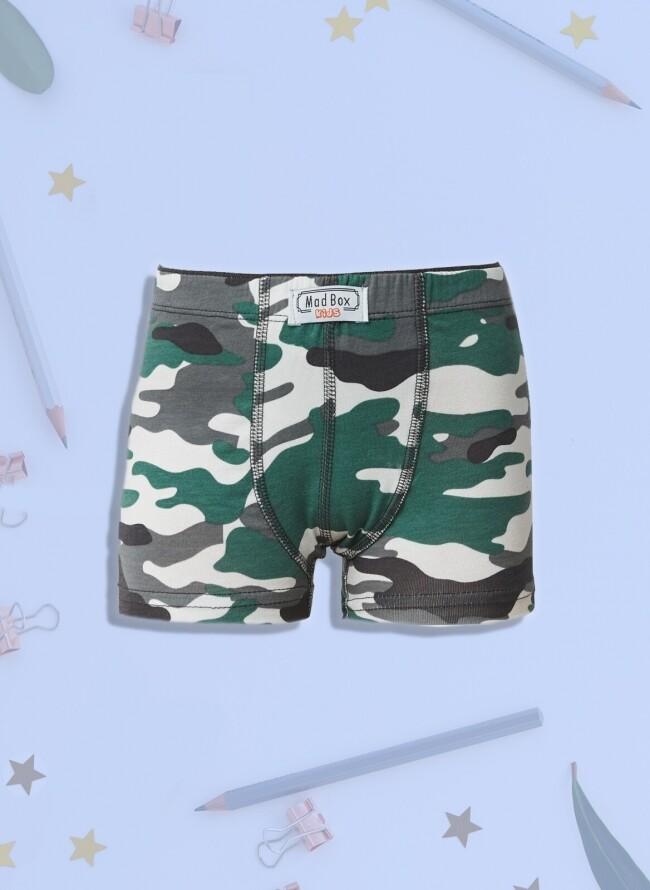 Boxer για αγόρι Army Green digital print