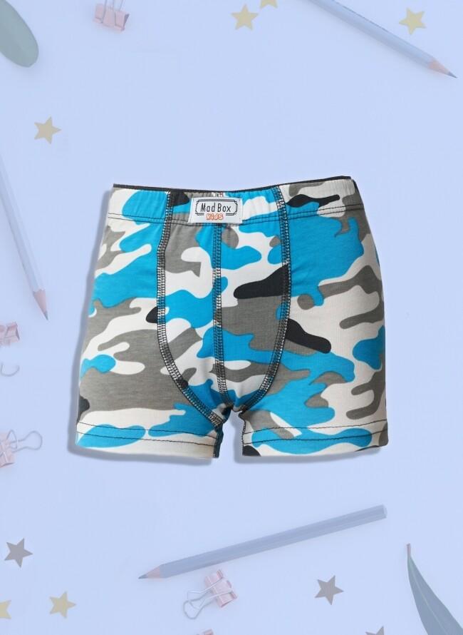 Boxer για αγόρι Army Grey digital print