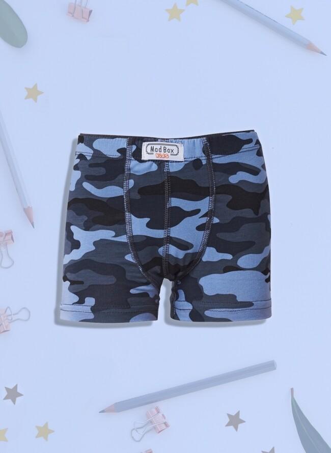 Boxer για αγόρι Navy Military digital print