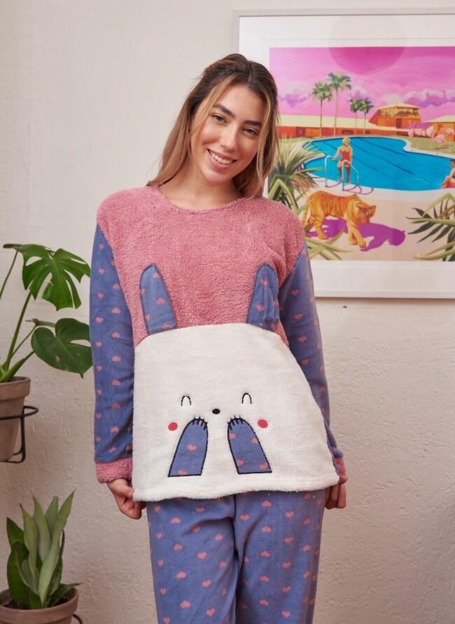 Γυναικεία Cozy Fleece Πιτζάμα 6028