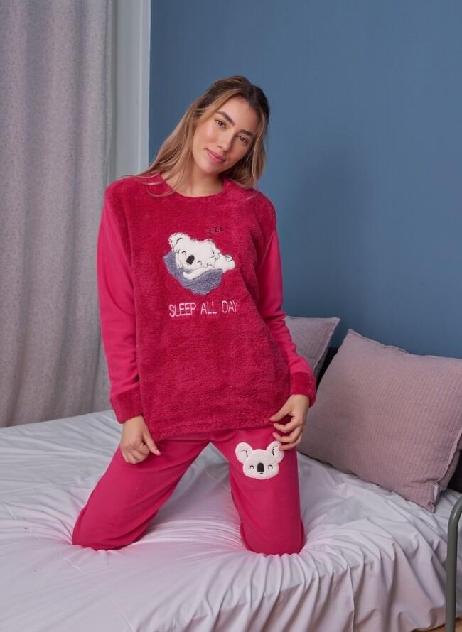 Γυναικεία Cozy Fleece Πιτζάμα 6033