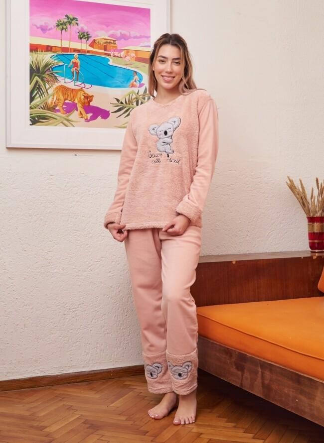 Γυναικεία Cozy Fleece Πιτζάμα 6037
