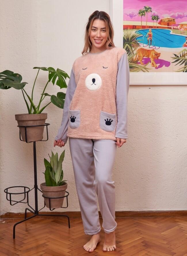 Γυναικεία Cozy Fleece Πιτζάμα 6038