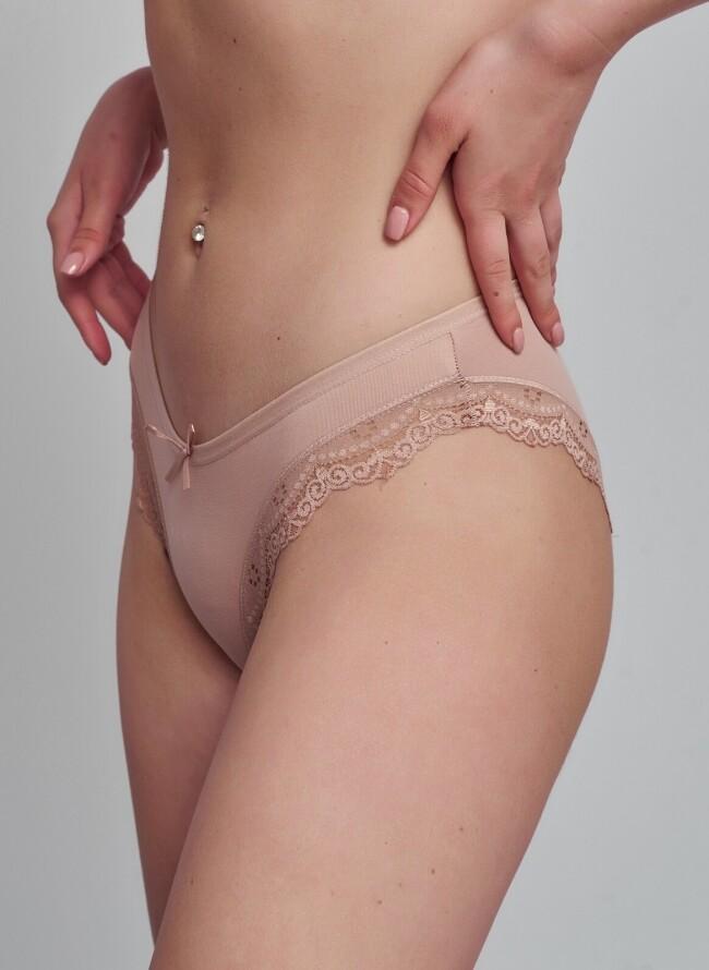 Γυναικείο Slip 5710 μονόχρωμο με δαντέλα