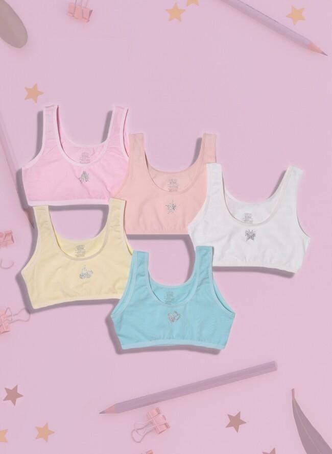 Παιδικό μπουστάκι 103 σε διάφορα χρώματα σετ 5 τεμαχίων