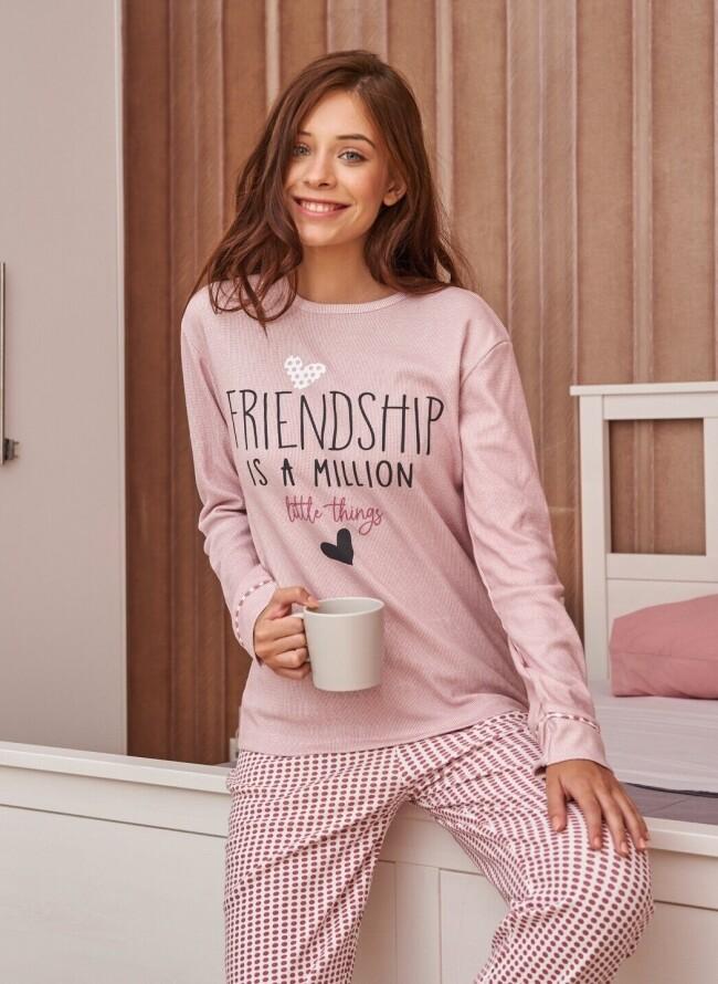 Πιτζάμα Χειμερινή 6541 Friendship is a Million
