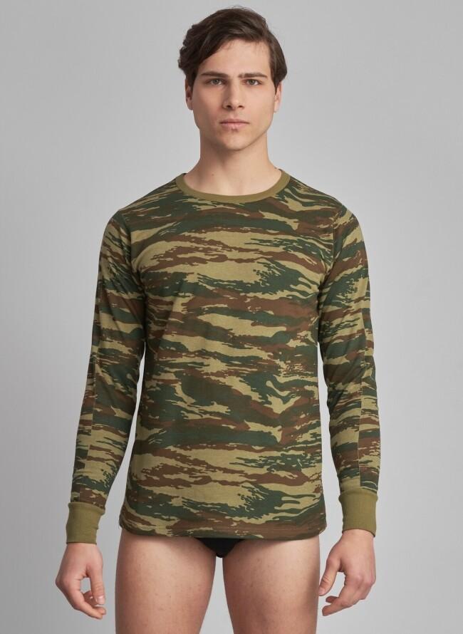 Στρατιωτικό φούτερ παραλλαγής μακρυμάνικο