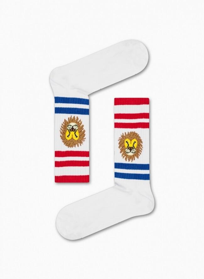 Unisex Κάλτσες Λευκές Athletic Lion