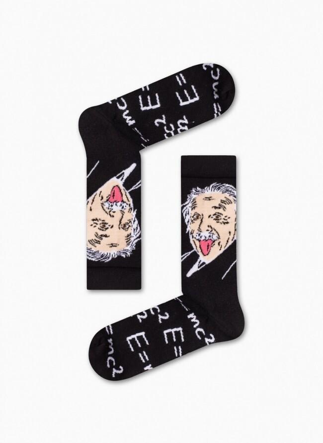 Unisex Κάλτσες Μαύρες Einstein