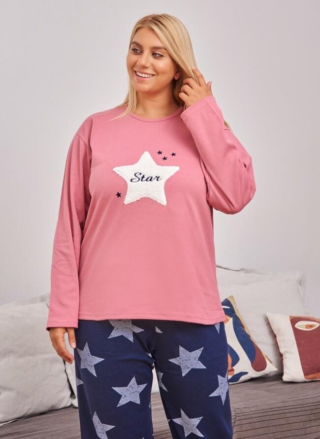 Χειμερινή Πιτζάμα Plus Size 6715 Star